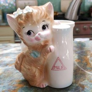 Vtg 50s Cute Kitty Cat Nursery Baby Planter Vase
